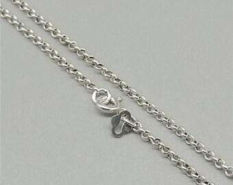 Quality Sterling Silver Ladies Belcher Chain 18 zURvMl60t