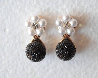 Vintage Earrings Pearl Earrings
