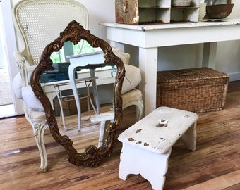 Antique Mirror French style mirror gilt solid wood cottage farmhouse chic