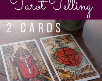 Tarot Telling 2 Cards Reading
