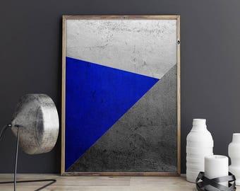 Geometric Art, Geometric Print, Silver Art, Contemporary Art, Modern Wall Decor, Minimalist Art, Minimalist Decor, Instant Download