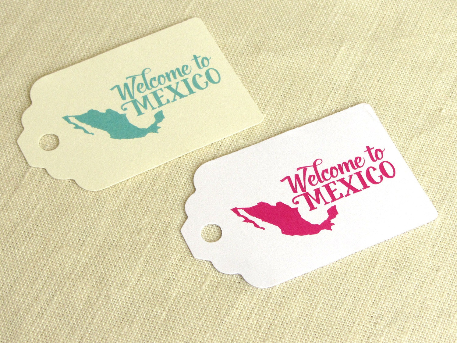 Welcome to Mexico Tag Welcome Bag Tag Mexican Wedding