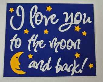 I love you to the Moon Magnet