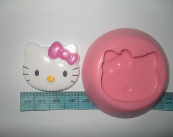 Even Bigger Still Kitty Head Mold,for Crafts, Jewelry, Scrapbooking, Sweet Dessert and Miniature Food (wax, soap, resin, paper, pmc, plaster, epoxy, polymer clay, Sculpey III, Fimo and Premo Clay)