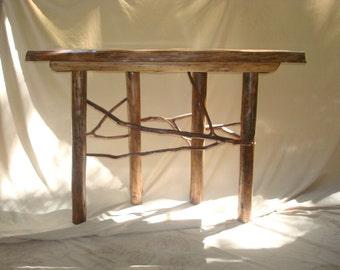Rustic Cedar Sofa/Console Table