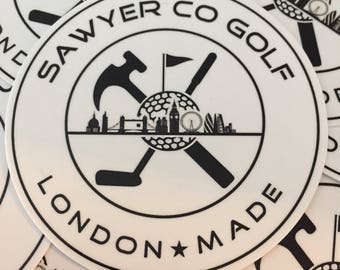 "Sawyer Co Golf 3"" Stickers"