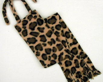 Fleece HORSE TAIL BAG - Leopard Print - by BobbiGee's