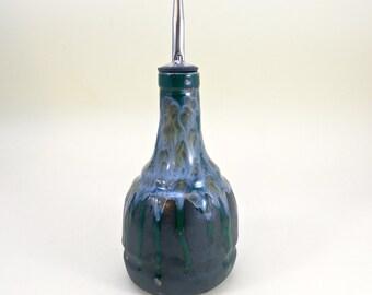 Ceramic oil bottle , Oil dispenser  , Olive oil bottle, vinegar dispenser, olive oil dispenser made to order