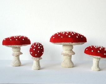 Fly Agaric Crochet Pattern - Fly Agarics Pattern - Amanita muscaria - Mushroom Pattern - Forest Crochet - Autumn Harvest CROCHET PATTERN 171