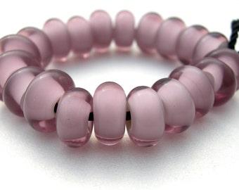 neo lavender lampwork beads, handmade lampwork, lavender beads, one pair, two beads