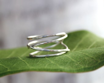 Winding Ring - Swirly Nest Organically Wrapping Ring