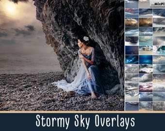 Stormy Sky Overlays, Dramatic sky, Rainy sky, overlay, english sky, lavender sky, overlays, beach sky, clouds, gimp, skies, lightning sky