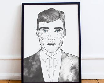 Peaky Blinders Art Print Tommy Shelby