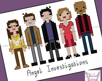 Angel Investigations inspired Cross Stitch - PDF pattern - INSTANT DOWNLOAD