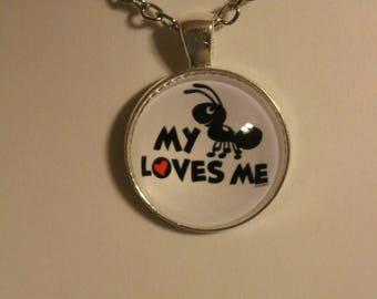 My Aunt Loves Me.. Necklace Gift Friend, Aunt, Cousin, Friend, Babysitter, Mom, Dad, Present #2