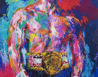Rocky Balboa ,Canvas Art 12 x14 Giclee