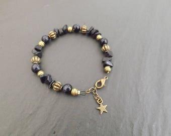 """Bracelet """"Milky"""" blue sand stone"""