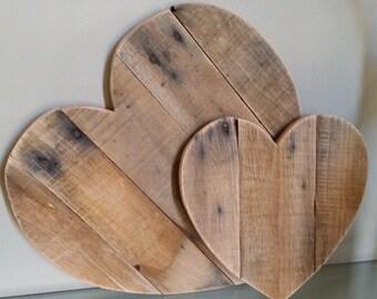 24 inch Rustic Reclaimed Wood Heart