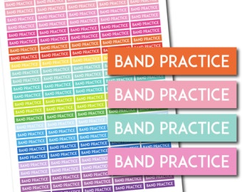 Band practice stickers, Band practice planner stickers, Band practice printable stickers, Band practice weekly stickers, STI-716