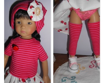 """Doll clothes Little darlings Dianna Effner, 33cm 14 """"- Ladybug outfit"""