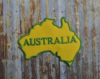 Australia Map Aussie Iron On Or Sew On Patch