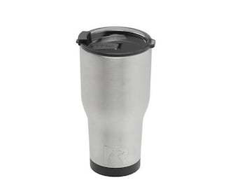 Laser Engraved RTIC 30 oz. Stainless Steel Vacuum Insulated Tumbler w/Clear Lid/ Custom RTIC