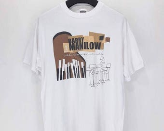 Sale !!! Vintage 90s Barry Manilow Concert Tour T Shirt