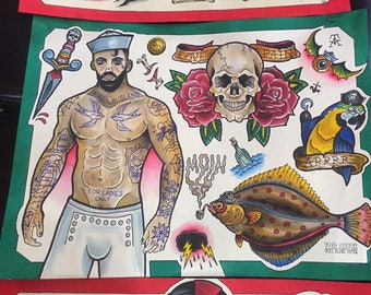 Old School Tattoo Flash by Tor Abyss - American Traditional - Limited Prints - hand numbered and signed