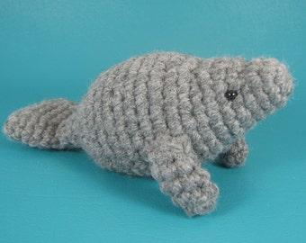 Manatee - PDF amigurumi crochet pattern
