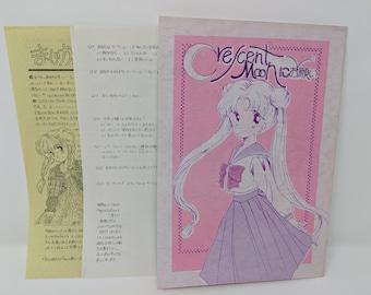 Crescent Moon ni Onegai (Sailor Moon) - Vintage Doujinshi Comic w/ newsletter