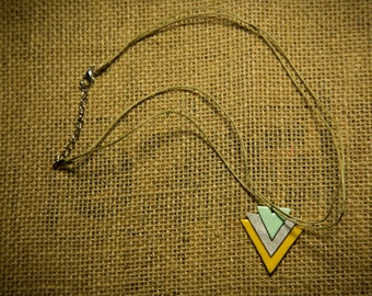 Holiday SALE!! Winter triangles. Handmade jewelry. Polymer clay necklace. Free shipping in the US!