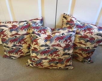 Laurel Burch Design Dancing Horses - Pillow Cover