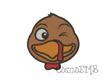 6 Size Turkey Embroidery design Machine Embroidery - Digital INSTANT DOWNLOAD
