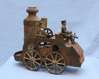 Antique Clark Steam engine pumper fire truck