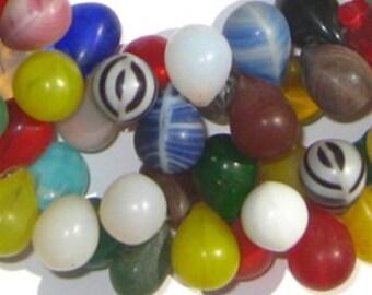 130 Mali Wedding Beads - Small African Trade Beads - African Glass Beads - Jewelry Making Supplies - Made in Mali ** (mali-wedding-203)