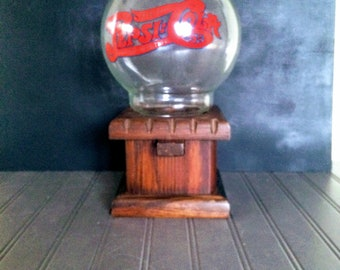 Vintage Pepsi Cola Wooden Gumball Dispenser Antique Pepsi Cola Wood and Glass Candy Dispenser