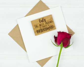 Personalised Be My Bridesmaids  Card