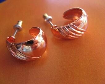 Copper Hoop Earrings C6981DO -  3/4 of an inch in diameter