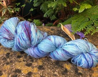 "100grms hand painted merino , silk,sparkle silk lace weight yarn ""sunset"""