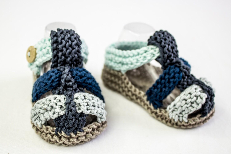 KNITTING PATTERN, PDF, Baby Boy Sandal Pattern, Baby Sandal Pattern ...