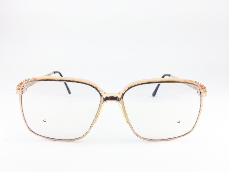 80er Jahre Vintage Brille Silber kariert Brillengestell mit