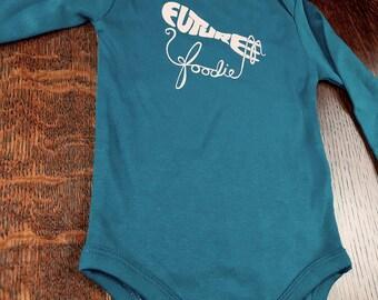 Unique Baby Gift, Organic Baby Bodysuit, Foodie Gift, Organic Baby Gift, Future Foodie, Baby Clothing, Long Sleeve Bodysuits, Foodie Idea