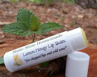 Lemon Honey Lip Balm with Lemon Balm