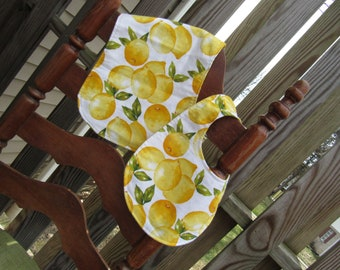 Lovely Lemons Bib and Burp Cloth Gift Set