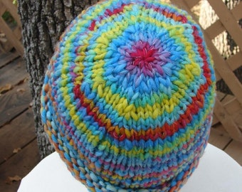 Pattern Handknit Hat, Bulky Yarn, Quick, Easy