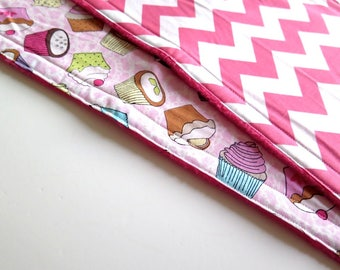 Burp cloths, pink baby burp cloths, girl burp cloths, set of 2, baby shower gift