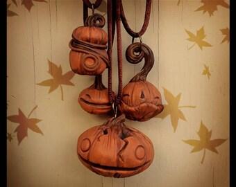 Pumpkin Necklace Jack-o-lantern Thanksgiving Halloween Necklace Gift For Her Pumpkin Jewellery Pumpkin Jewelry Gift Ideas Jackolantern Fall