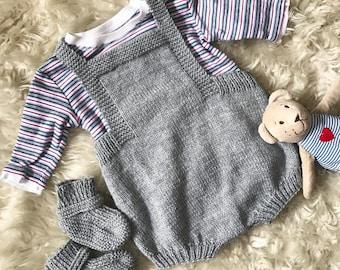 Knit Baby Romper Etsy