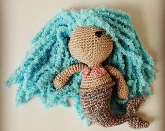 Crocheted Mermaid Plush Doll