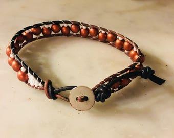 Copper & White 1Wrap Bracelet